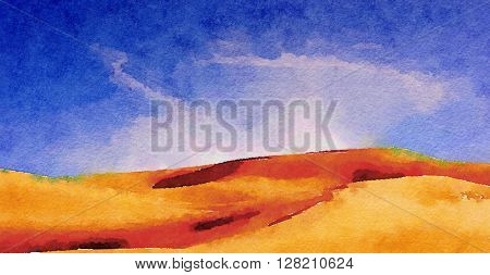 Nice original Painting of The imperial Sand Dunes