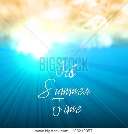 Summer time background, easy all editable
