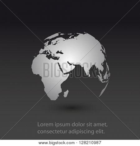 World map globe template easy all editable