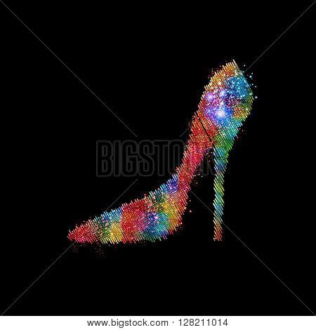 Shoes vector icon easy all editable