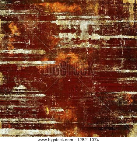 Highly detailed grunge background or scratched vintage texture. With different color patterns: yellow (beige); brown; red (orange); white