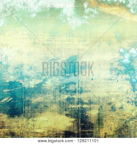 Vintage mottled frame, textured grunge background with different color patterns: yellow (beige); gray; green; blue; white; cyan