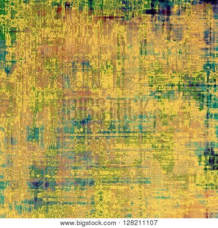 Grunge background for a creative vintage style poster. With different color patterns: yellow (beige); brown; green; blue; red (orange)