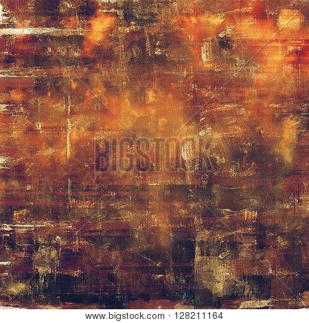 Old school frame or background with grungy textured elements and different color patterns: yellow (beige); brown; gray; red (orange); purple (violet); pink