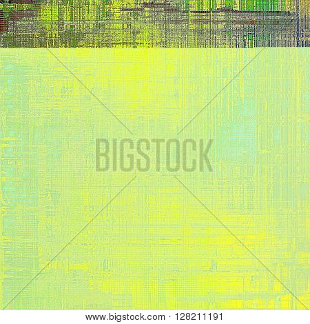 Vintage style designed background, scratched grungy texture with different color patterns: yellow (beige); brown; gray; green; purple (violet)