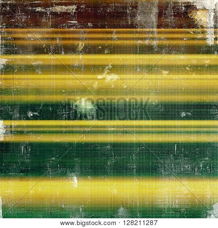 Grunge background with vintage style graphic elements, retro feeling composition and different color patterns: yellow (beige); brown; gray; green; white