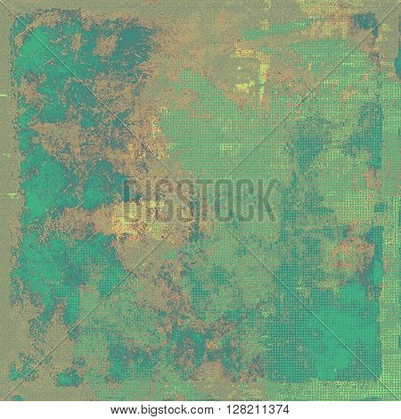 Vintage background - dirty ancient texture. Antique grunge backdrop with different color patterns: yellow (beige); brown; gray; green; blue