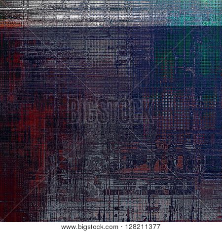 Grunge background with vintage style graphic elements, retro feeling composition and different color patterns: brown; gray; blue; red (orange); pink