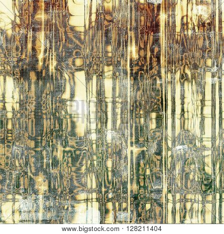 Old school elements on textured grunge background. With different color patterns: yellow (beige); brown; gray; green; white