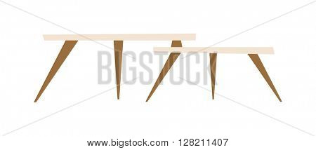 Modern tables vector illustration.