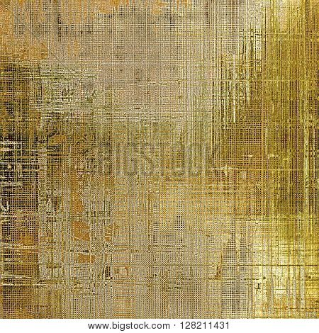 Old school background or texture with vintage style grunge elements and different color patterns: yellow (beige); brown; gray