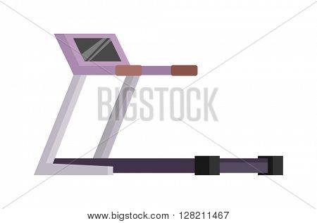 Treadmill vector illustration.