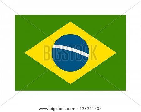 Brazil flag vector illustration.