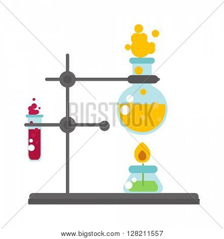 Lab test vector illustration.