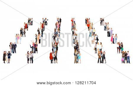 Standing Together Team over White