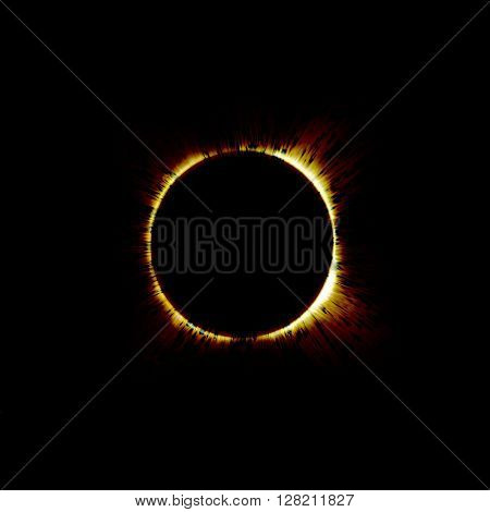 eclipse of the sun on the black, used for the background