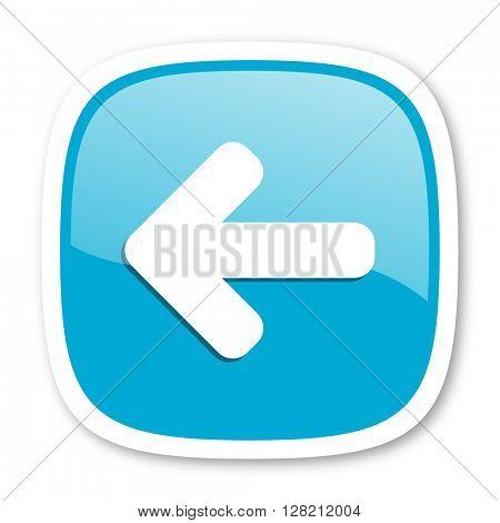 left arrow blue glossy icon