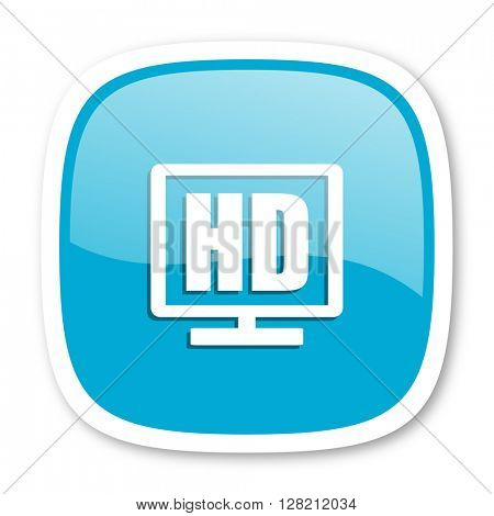 hd display blue glossy icon