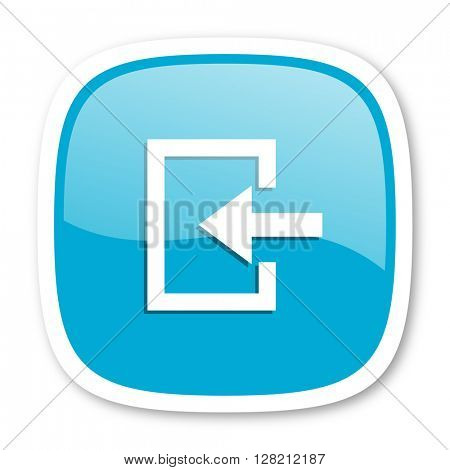 enter blue glossy icon