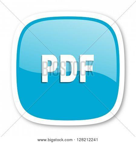 pdf blue glossy icon