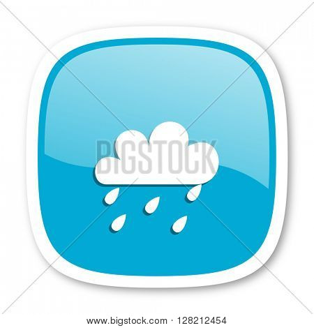 rain blue glossy icon