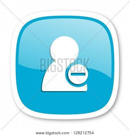 remove contact blue glossy icon