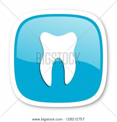 tooth blue glossy icon