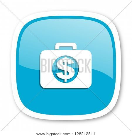 financial blue glossy icon