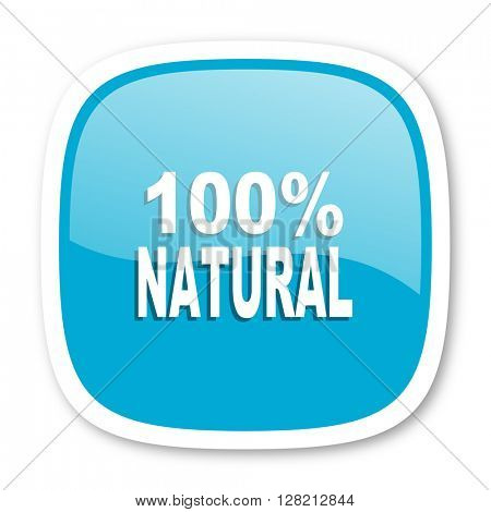 natural blue glossy icon