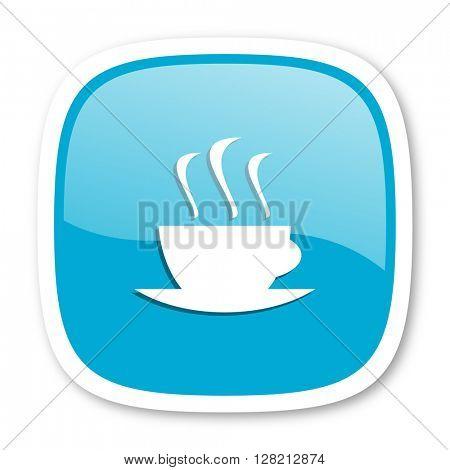 espresso blue glossy icon