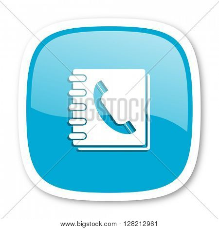 phonebook blue glossy icon
