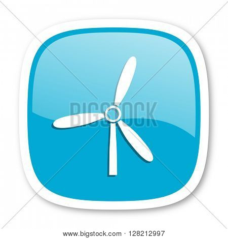 windmill blue glossy icon
