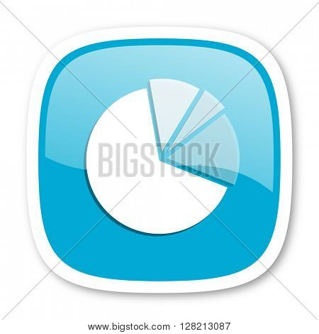 diagram blue glossy icon