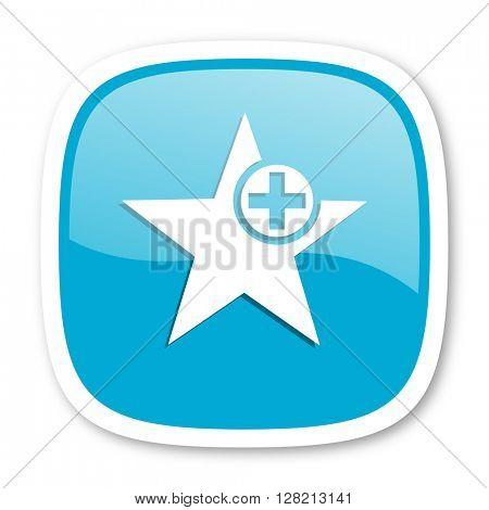 star blue glossy icon