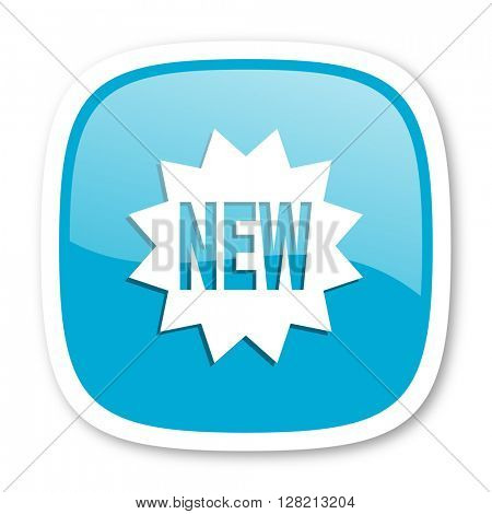 new blue glossy icon