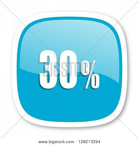 30 percent blue glossy icon