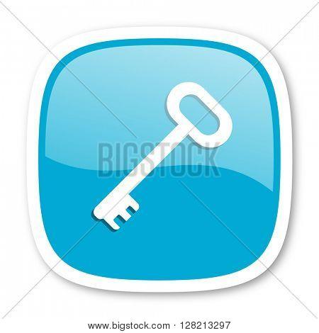 key blue glossy icon