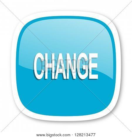 change blue glossy icon