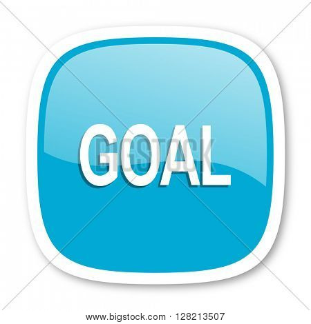 goal blue glossy icon