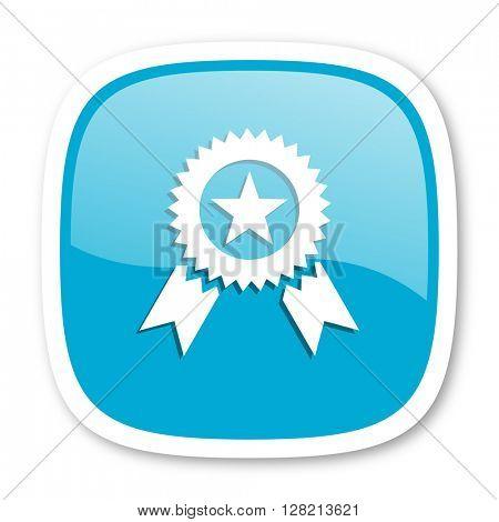 award blue glossy icon