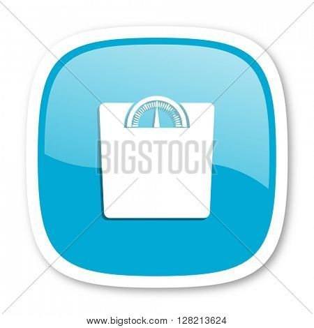 weight blue glossy icon