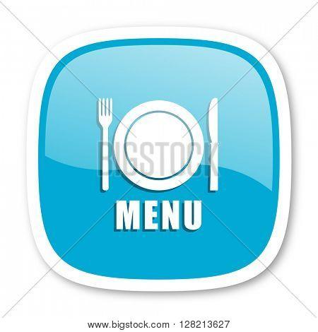 menu blue glossy icon