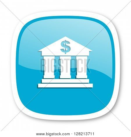 bank blue glossy icon
