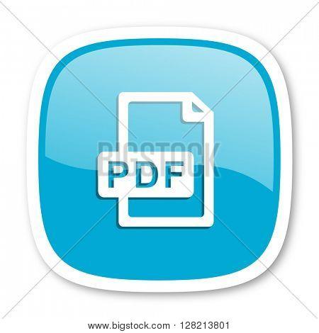 pdf file blue glossy icon