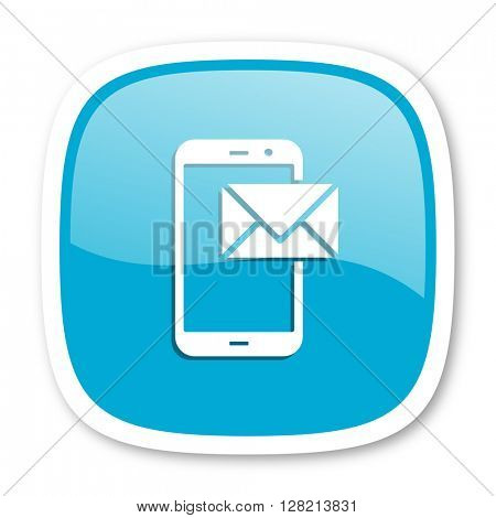 mail blue glossy icon