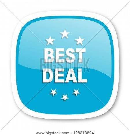 best deal blue glossy icon