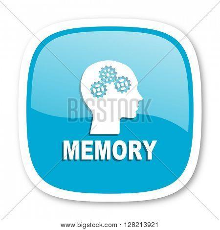 memory blue glossy icon