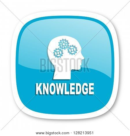 knowledge blue glossy icon