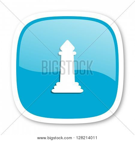 chess blue glossy icon