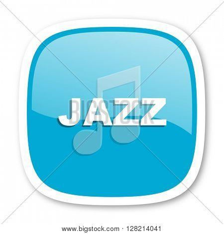jazz music blue glossy icon